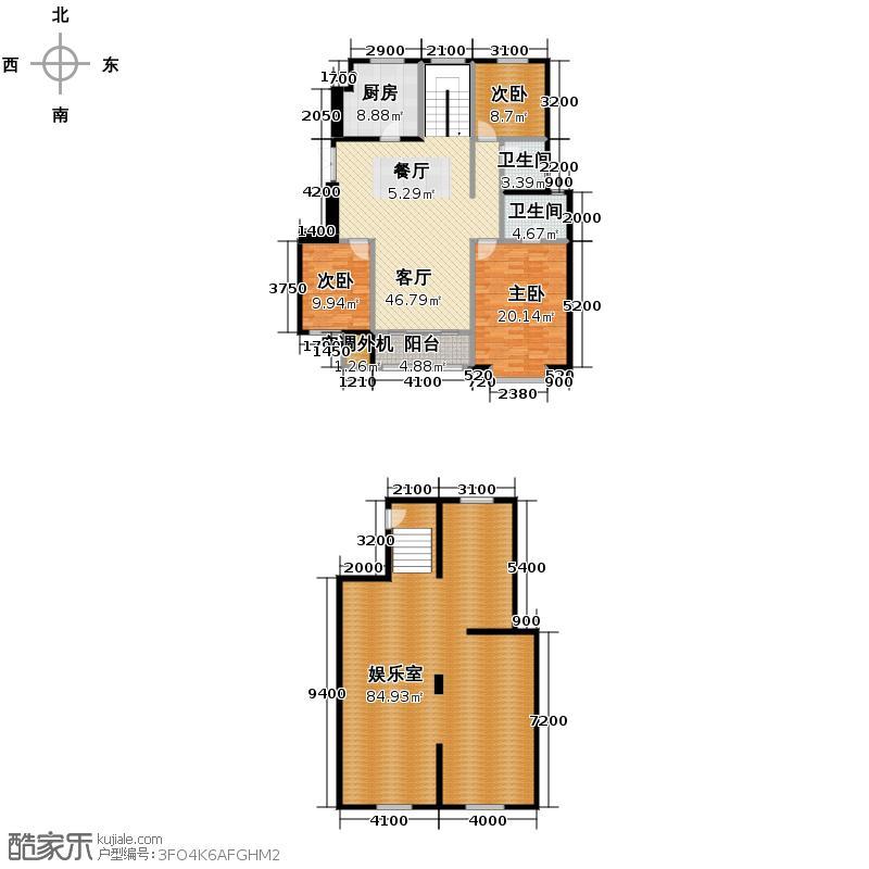 吉宝季景兰庭213.28㎡户型10室