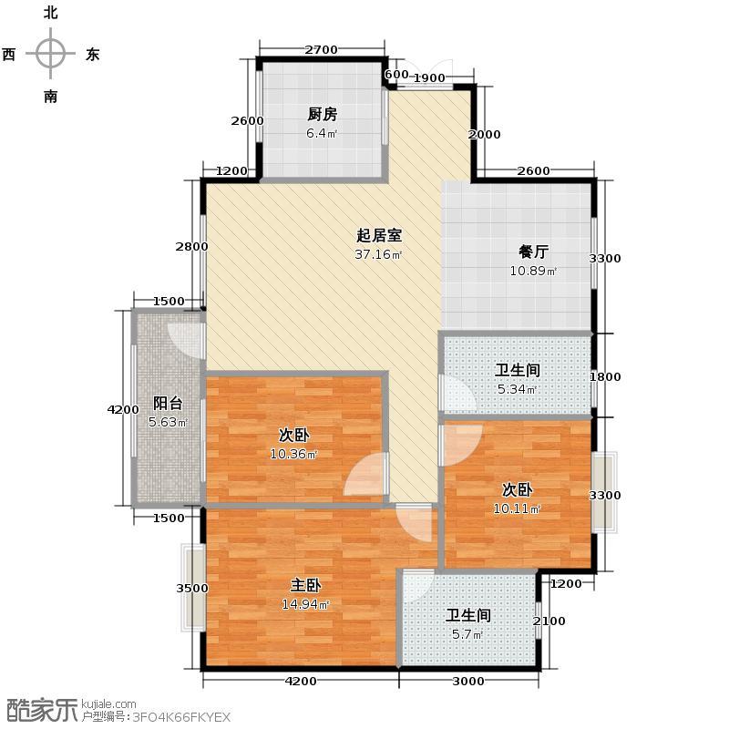 贝地卢加诺102.80㎡百变3+户型10室