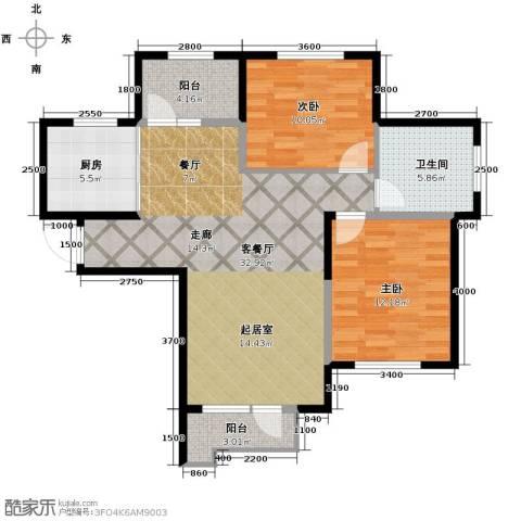 泽天下2室2厅1卫0厨104.00㎡户型图