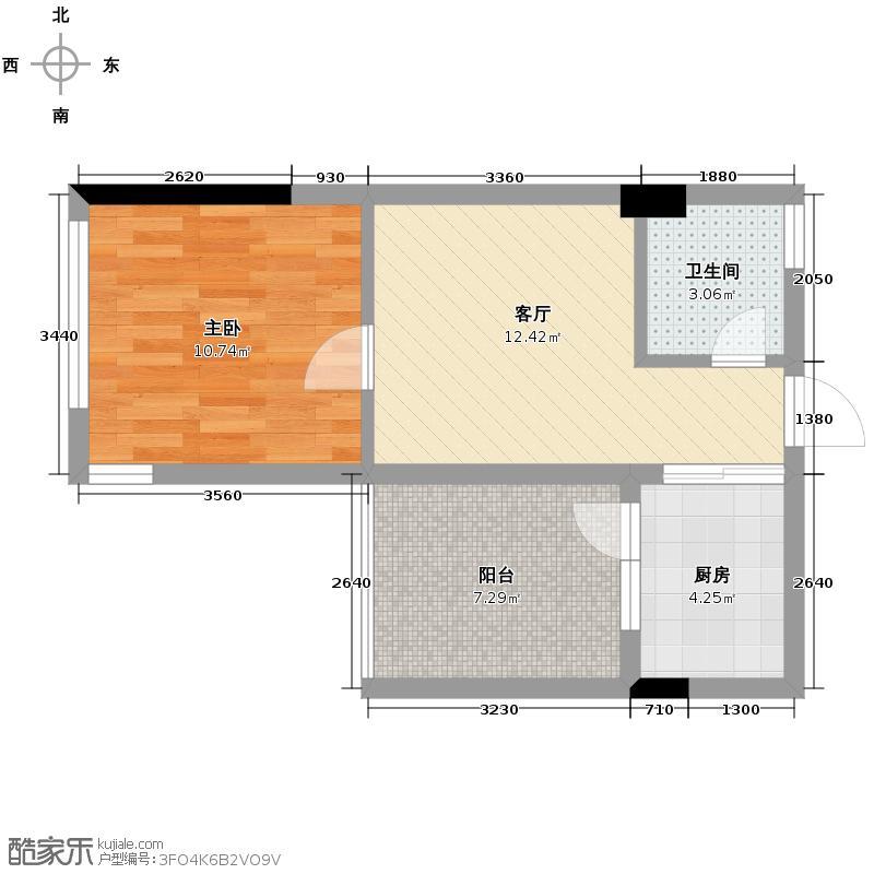 西锦国际广场44.08㎡一期摈果户型10室
