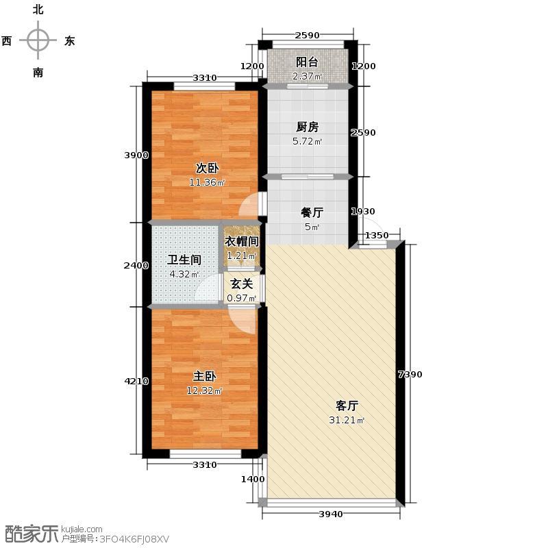 华大天朗国际社区60.00㎡C户型10室
