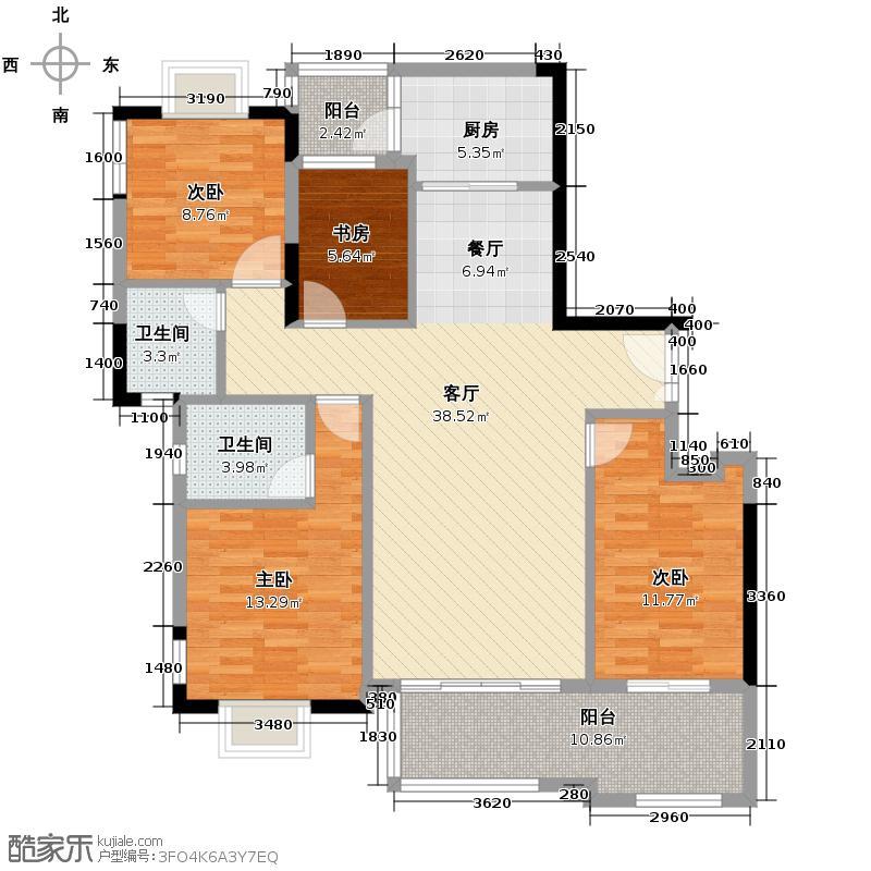富力金港城118.24㎡A10栋-2层02/03户型10室