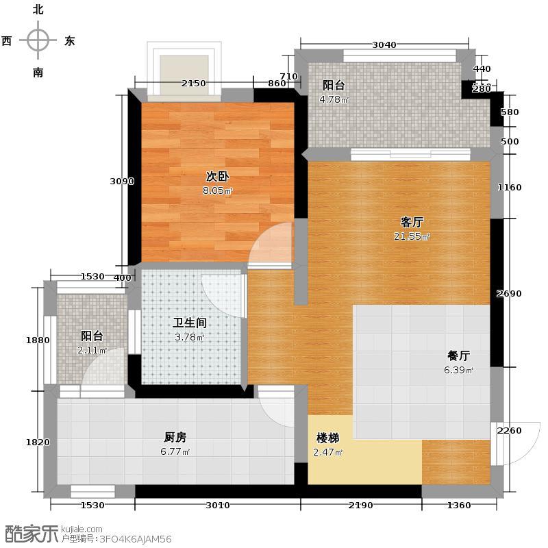 中铁西城89.67㎡1期1批次3、4、7、10栋C2下层户型10室