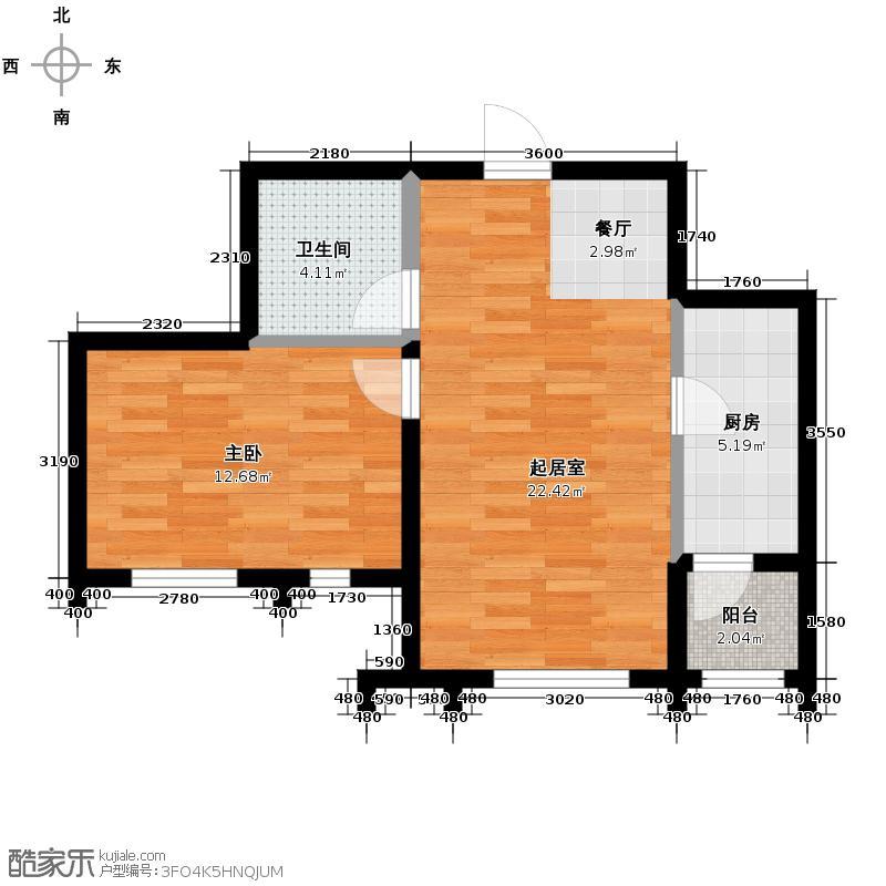 天保金海岸明珠湾53.16㎡户型10室