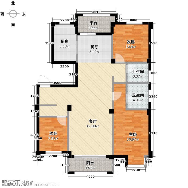 青林湾121.52㎡户型10室