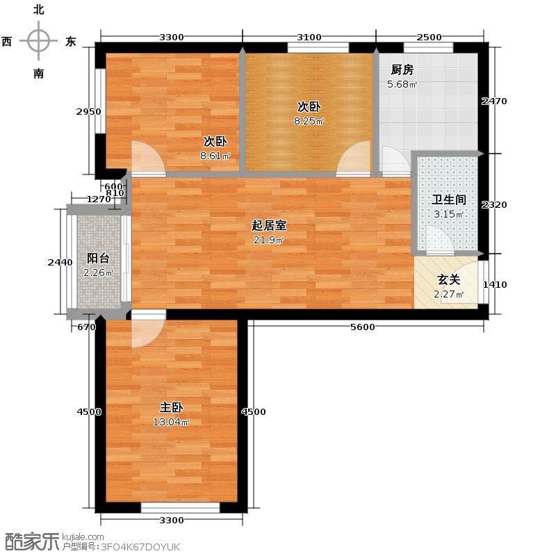 旗胜家园90.00㎡D16-3#5#7#D户型10室