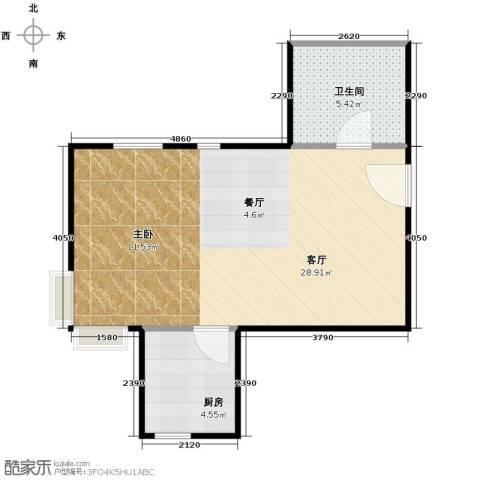 东尚观湖54.00㎡户型图