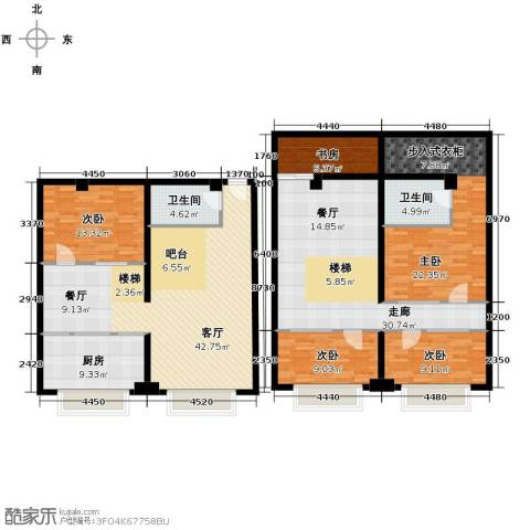 UP生活5室1厅2卫1厨152.61㎡户型图