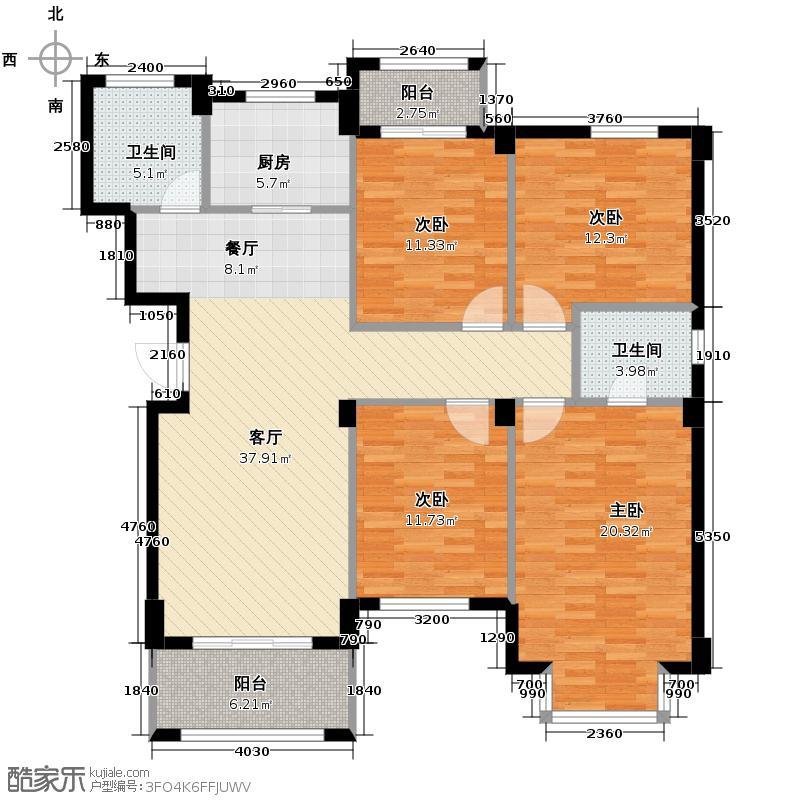 青林湾131.82㎡户型10室