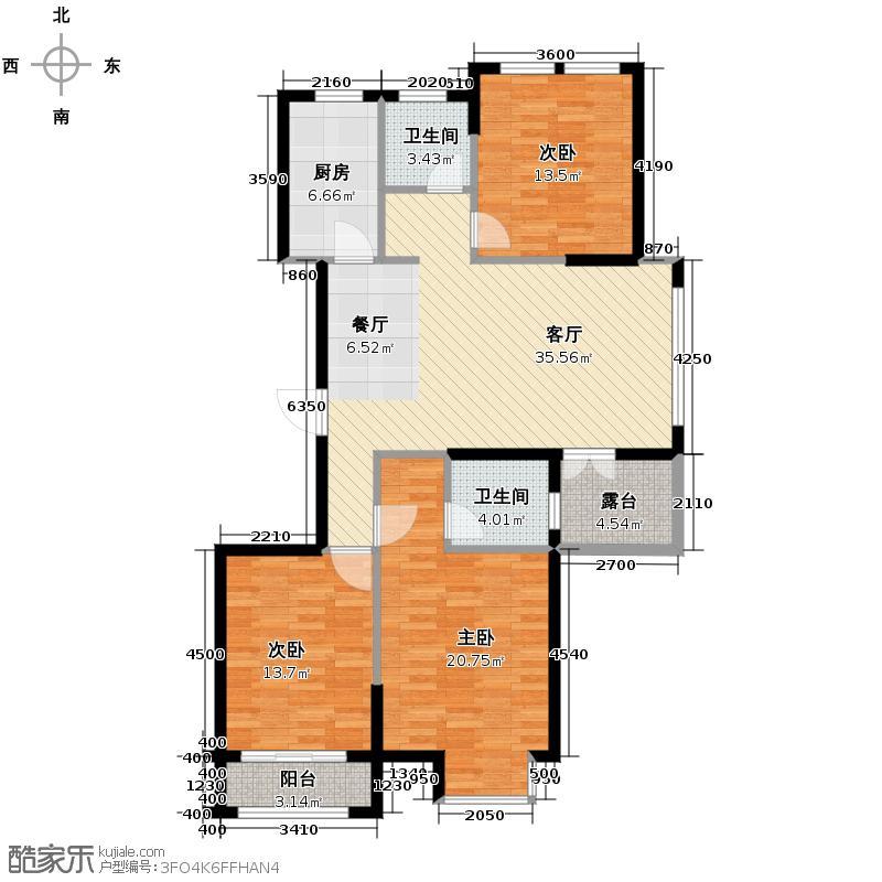 青林湾118.62㎡户型10室
