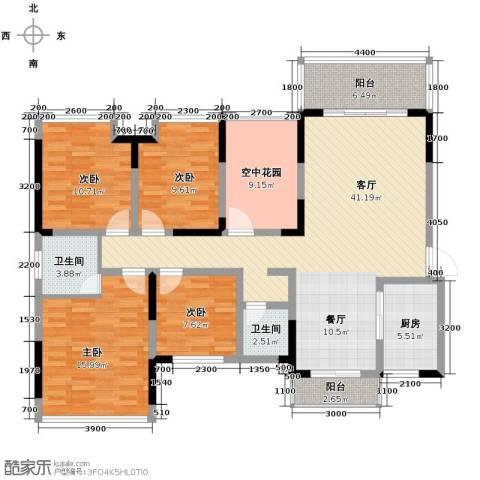 新里程潇湘名城4室2厅2卫0厨146.00㎡户型图
