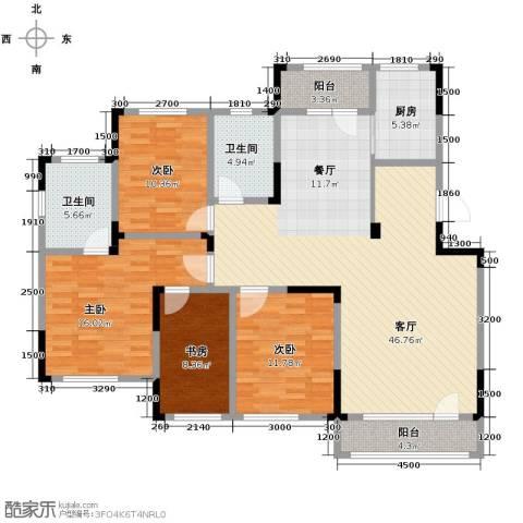 绿地卢浮公馆4室2厅2卫0厨140.00㎡户型图