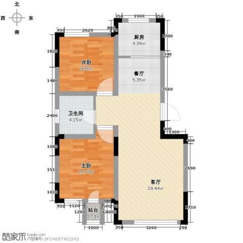 绿地卢浮公馆2室2厅1卫0厨84.00㎡户型图