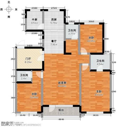 复地康桥3室2厅3卫0厨133.04㎡户型图