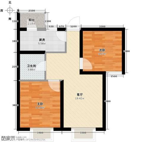 滨海智谛山2室2厅1卫0厨87.00㎡户型图