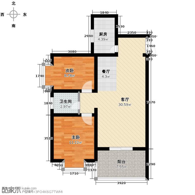 首府尚苑90.66㎡B1-3户型10室