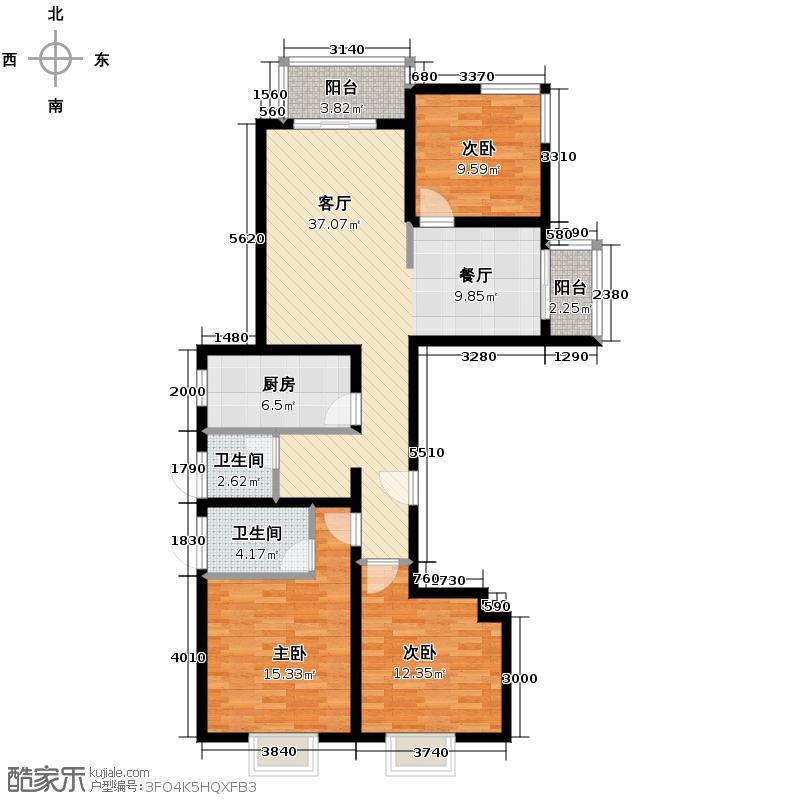 东尚观湖148.00㎡3#、4#、5#C1客厅大阳台主卧飘窗客卧南北而立户型10室