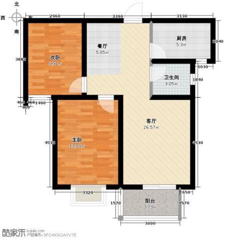 唐城一品2室2厅1卫0厨86.00㎡户型图
