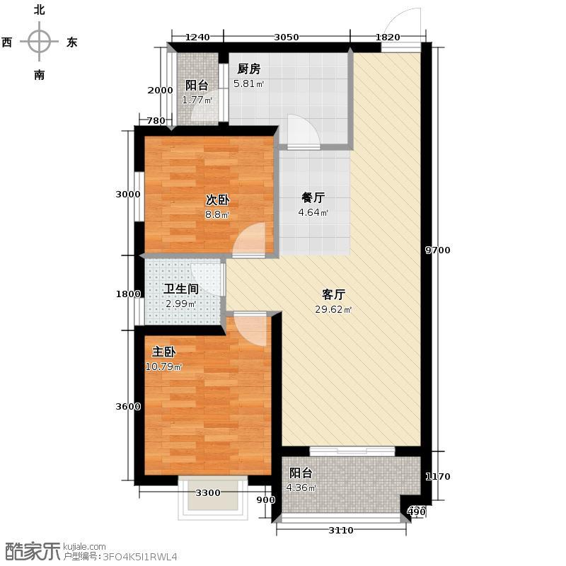 汉城湖一号83.95㎡B5c户型10室