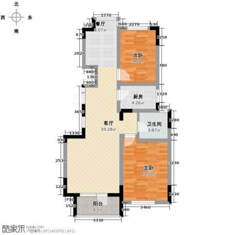 复地康桥2室2厅2卫0厨81.13㎡户型图