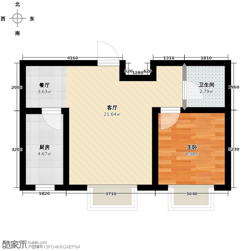 吴中家天下52.00㎡多层A2户型2室1厅1卫