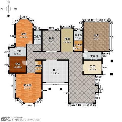 汀香别墅二期2室1厅3卫1厨494.00㎡户型图