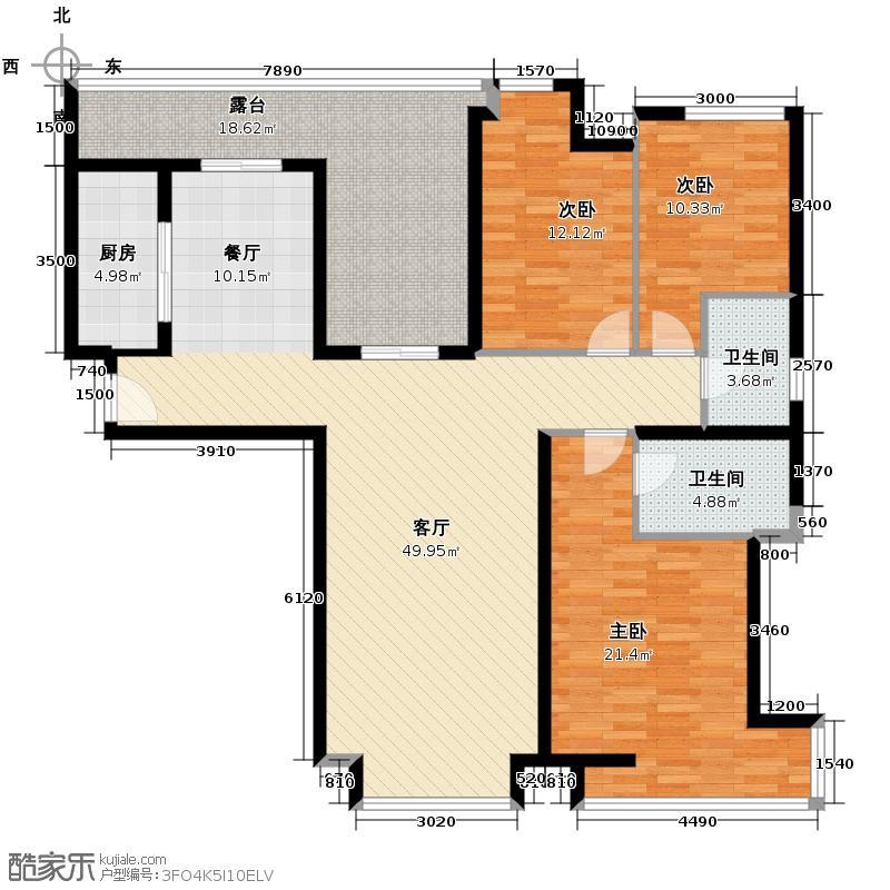 莱安逸境142.20㎡户型3室1厅2卫1厨
