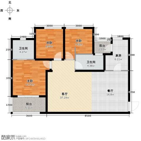 Park Tower 景杉3室2厅2卫0厨129.00㎡户型图