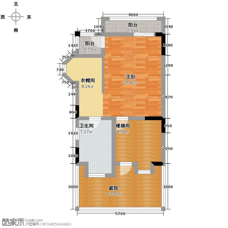 蓝泊湾71.24㎡A2\'三层平面户型4室2厅3卫