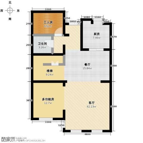 大宁山庄1厅1卫1厨113.00㎡户型图