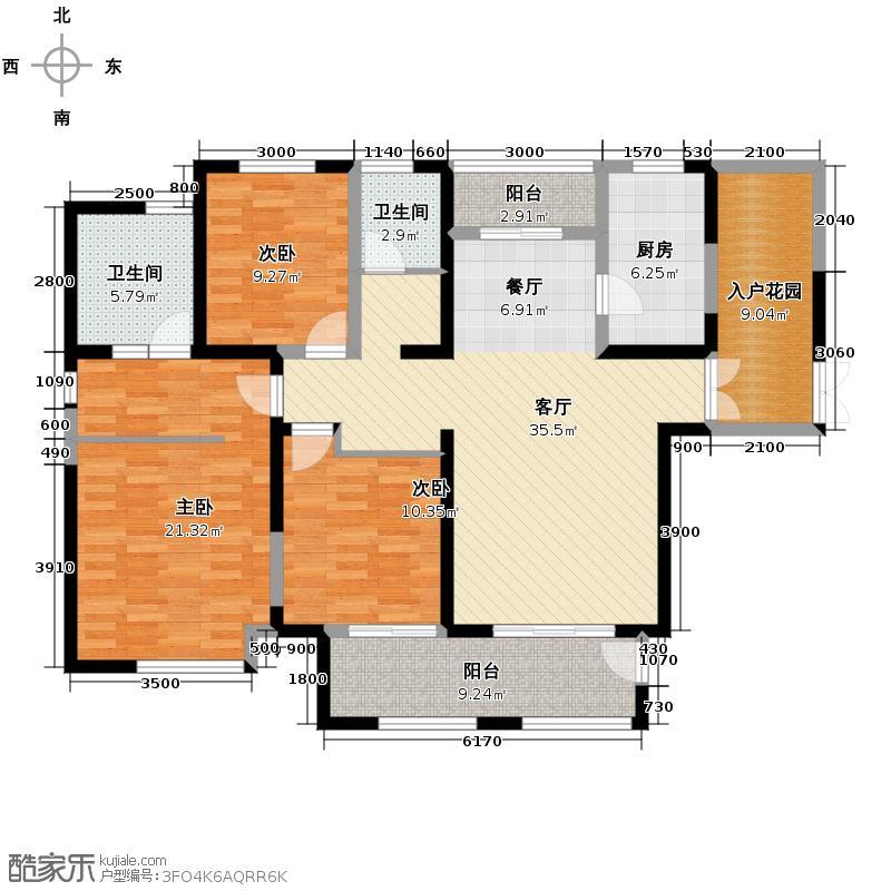 金科米兰米兰143.00㎡14#高层G01户型3室2厅2卫