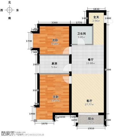 新兴中山八号2室2厅1卫0厨84.00㎡户型图
