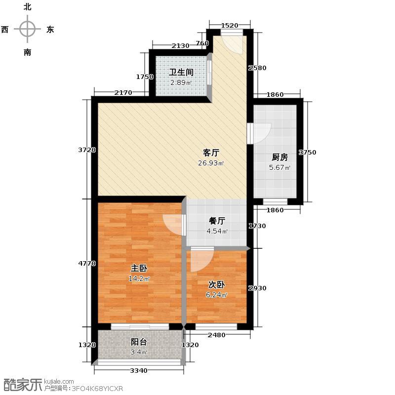 河北新人家68.21㎡A户型10室