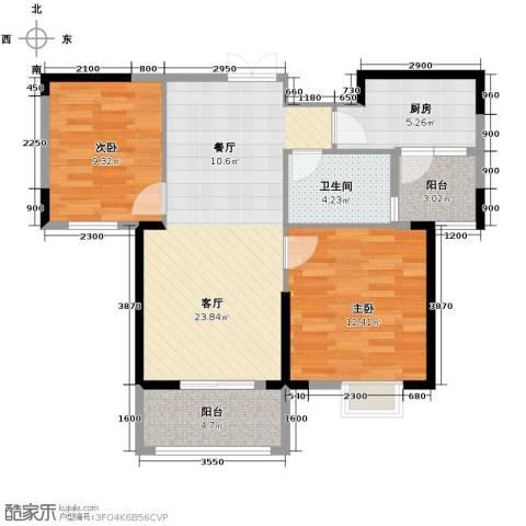 联投半岛2室2厅1卫0厨86.00㎡户型图