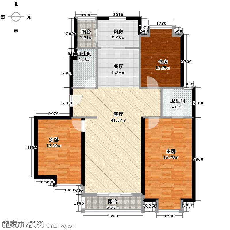 中建群贤汇137.81㎡在售A1餐厨相连南向三面宽户型3室1厅2卫1厨