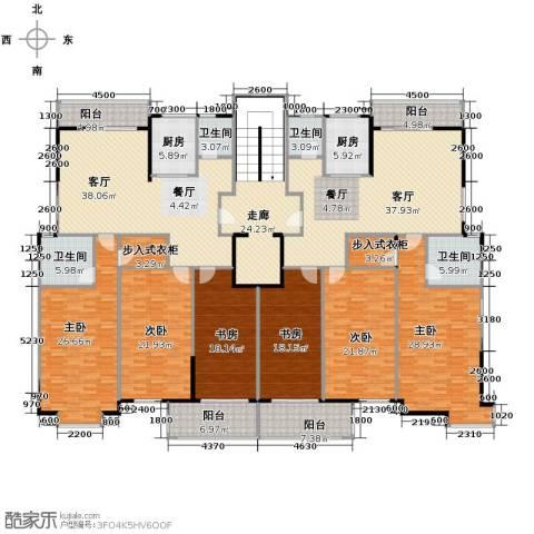 山语银城6室2厅4卫2厨403.00㎡户型图