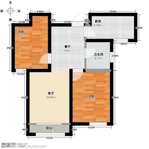 学仕府花园2室2厅1卫0厨92.00㎡户型图