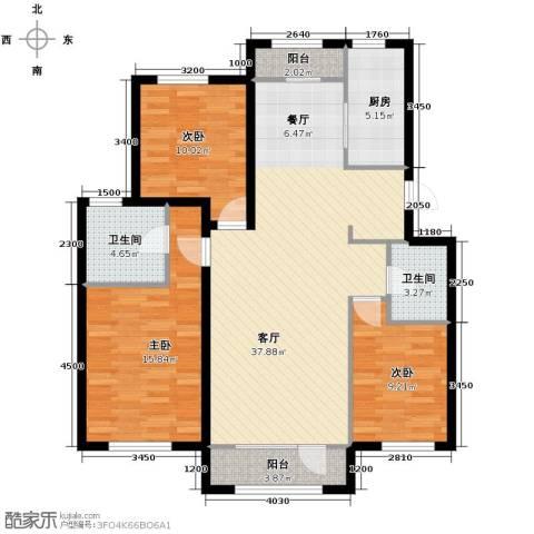 顶秀美泉小镇3室2厅2卫0厨116.00㎡户型图