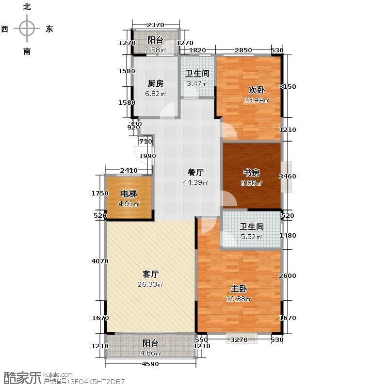 联美品格124.78㎡C2户户型3室2厅2卫