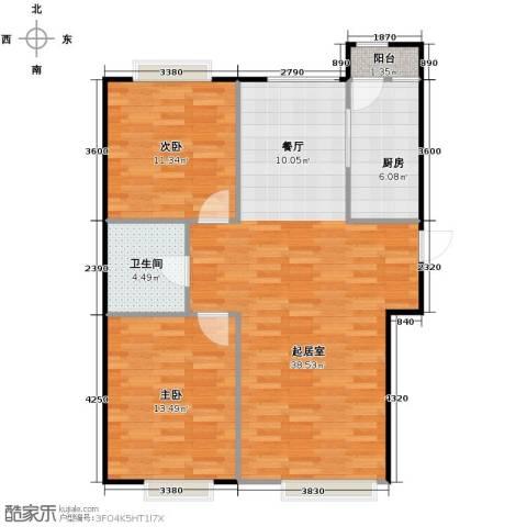 远洋城2室2厅1卫0厨110.00㎡户型图