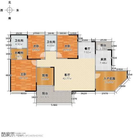 骏逸・第一江岸3室1厅2卫1厨182.00㎡户型图