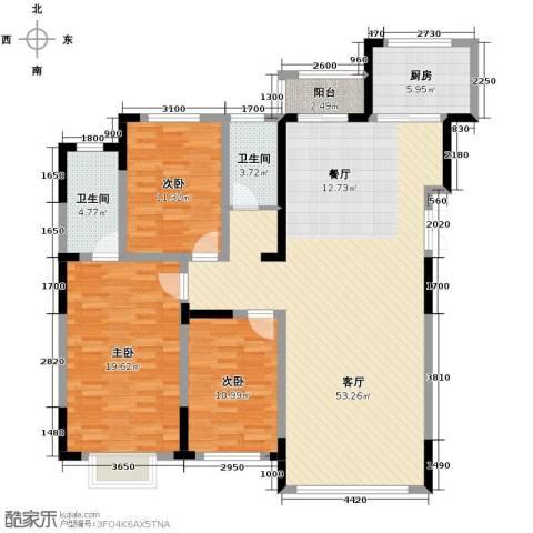 观澜湖别墅3室2厅2卫0厨153.00㎡户型图