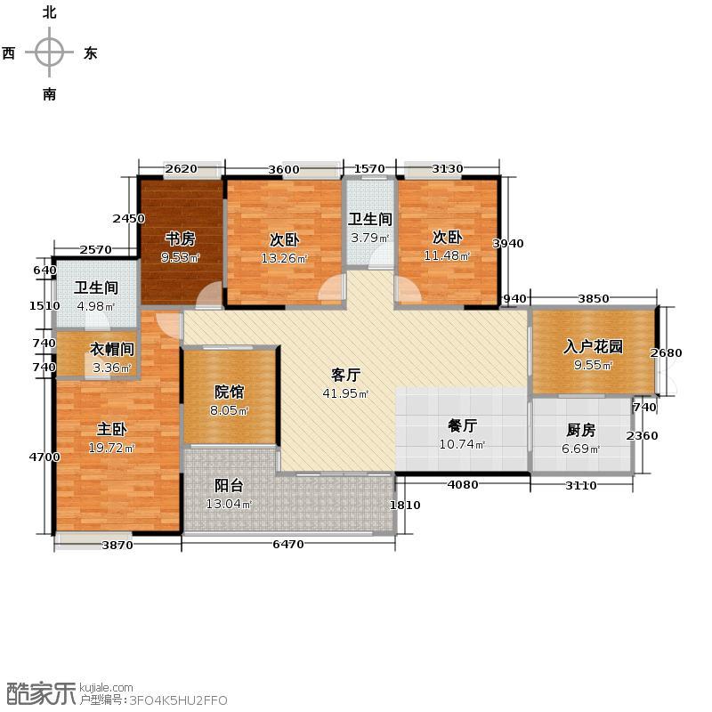 骏逸第一江岸155.87㎡户型4室1厅2卫1厨
