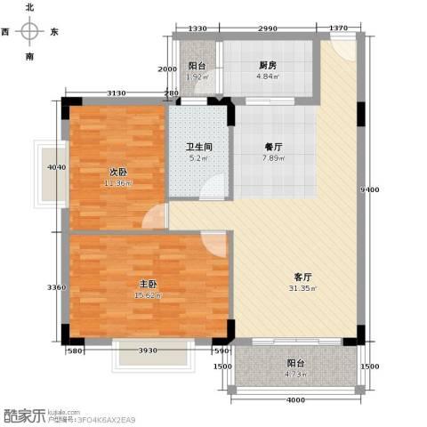 华标荔苑2室2厅1卫0厨89.00㎡户型图