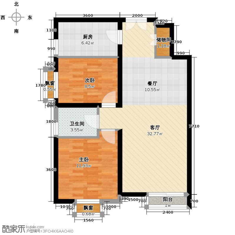 水墨林溪76.55㎡B1户型10室