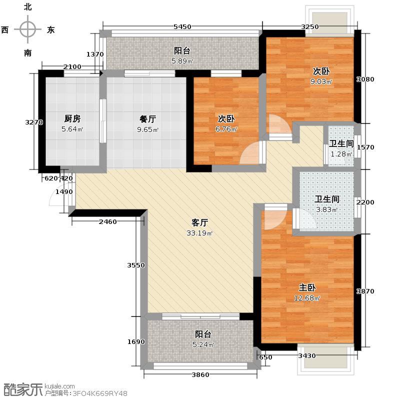 文景领秀119.06㎡A2户型3室2厅2卫