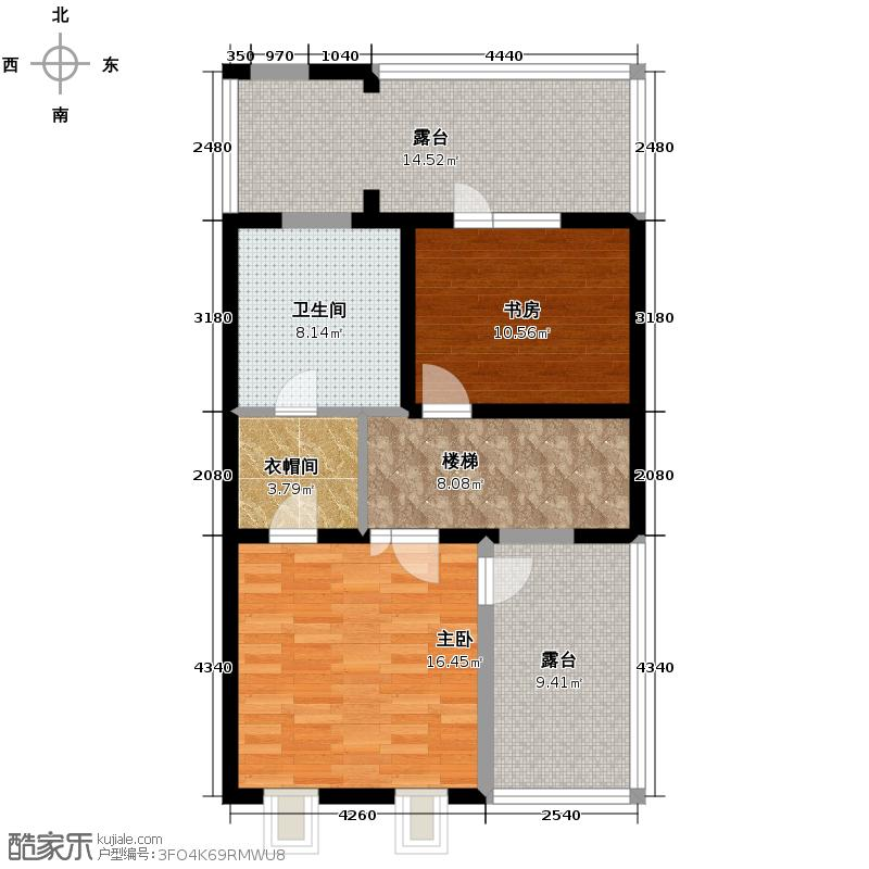 懿品府82.01㎡6号楼1205-C-01三层户型10室