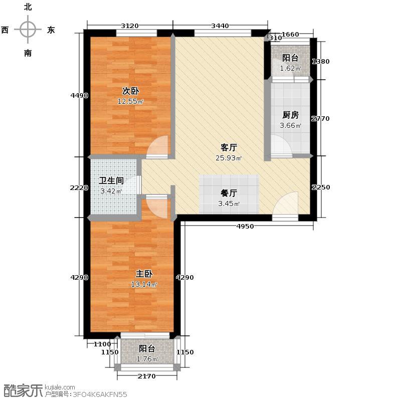 旗胜家园88.00㎡D16-3#5#7#G户型10室