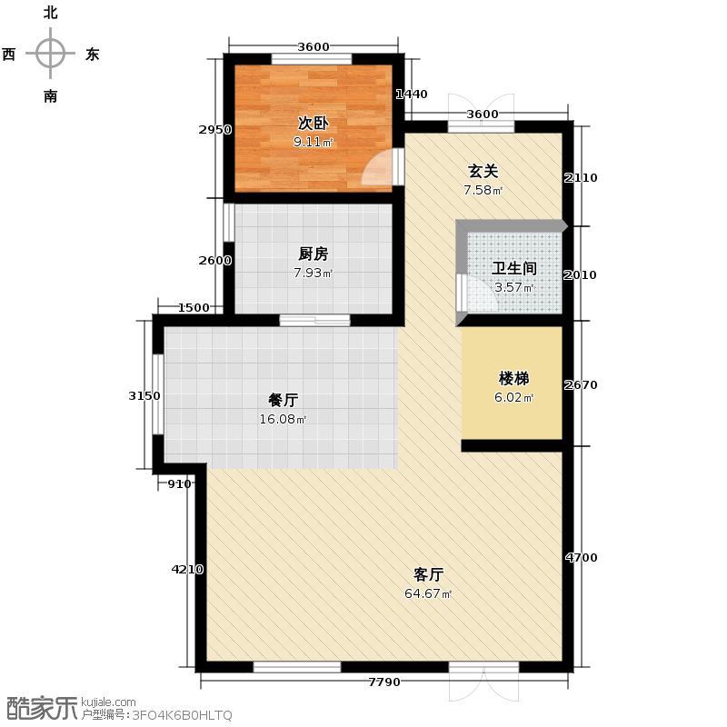 五矿榕园358.00㎡A2一层户型10室