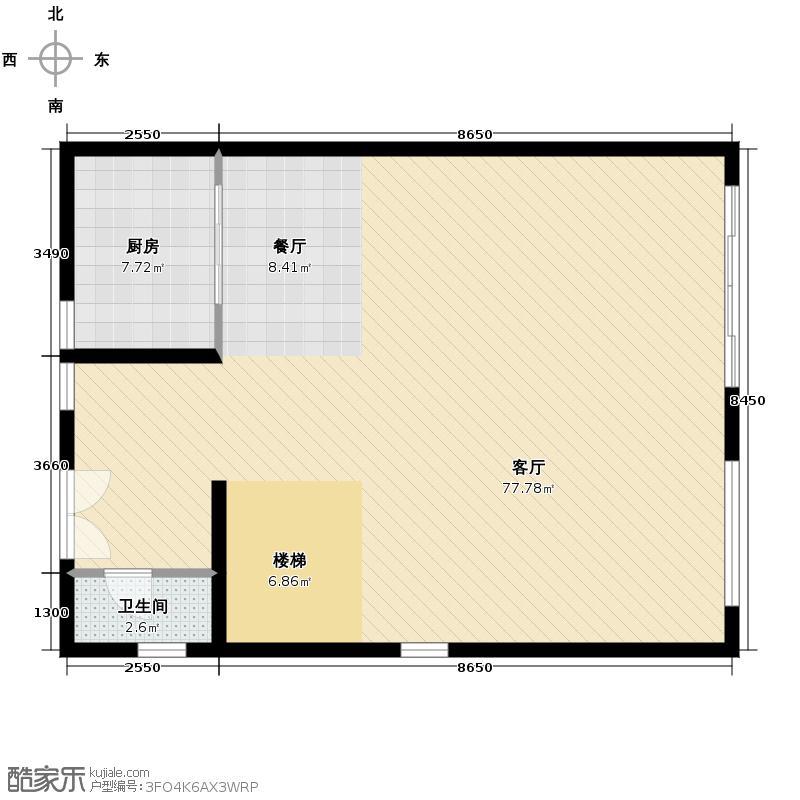 雅居乐小院流溪110.00㎡G型空中叠墅(下叠单元)一层户型10室